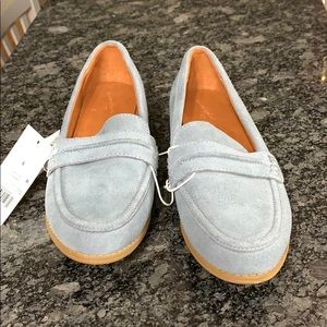 Blue suede loafers Universal Thread goods 8.5 NWT